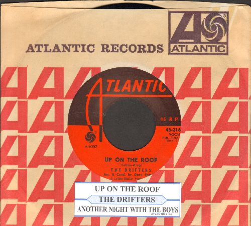 Drifters - Up On The Roof/Another Night With The Boys (with Atlantic company sleeve and juke box label) - NM9/ - 45 rpm Records