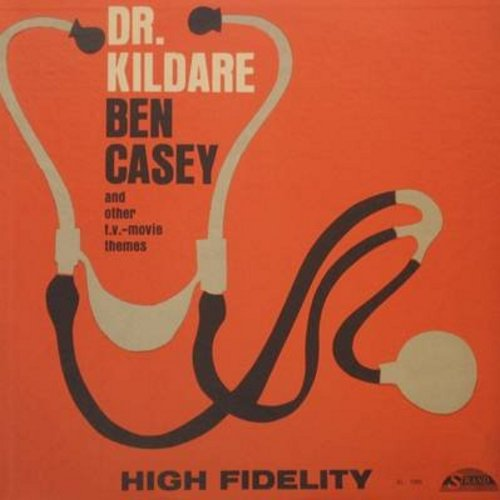 Dr. Kildare, Ben Casey, others - Dr. Kildare, Ben Casey and other TV and Movie Themes: Peter Gunn, Danny Thomas Show, Never On Sunday, Anna, more! (Vinyl MONO LP record) - EX8/VG7 - LP Records