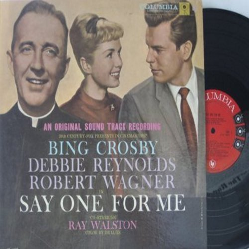 Crosby, Bing, Debbie Reynolds, others - Say One For Me - Original Motion Picture Sound Track: You Can't Love 'Em All, The Night Rock And Roll Died, The Secret Of Christmas, Chico's Choo-Choo (Vinyl MONO LP record) - NM9/EX8 - LP Records