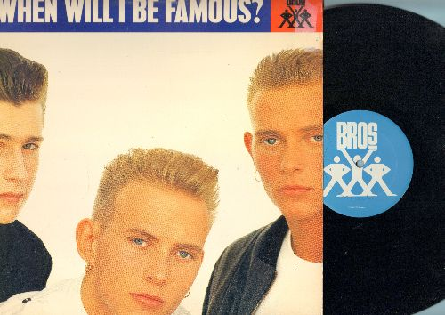 Bros - When Will I Be Famous? (5 Extended Dabce Club Mixes) - 12 inch vinyl Maxi Single, DJ advance pressing with picture cover. - NM9/NM9 - Maxi Singles