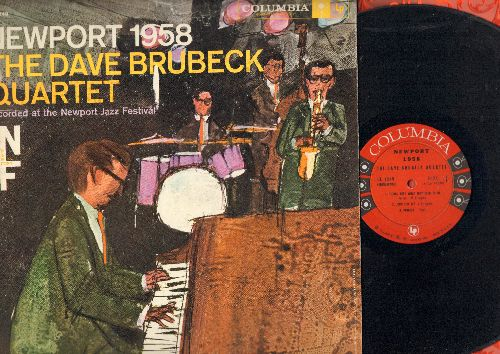 Brubeck, Dave Quartet - Newport 1958: The Duke, Perdido, Things Ain't What They Used To Be, Flamingo (Vinyl MONO LP record) - VG7/EX8 - LP Records