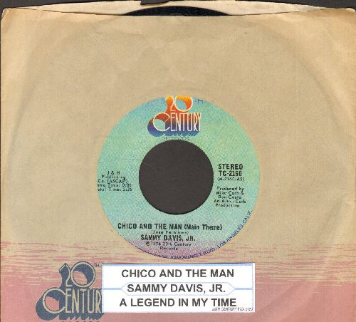 Davis, Sammy Jr. - Chico And The Man/(I'd Be) A Legend In My Time (with juke box label and company sleeve) - NM9/ - 45 rpm Records