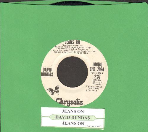 Dundas, David - Jeans On (I Pull My Old Blue Jeans On) (double-A-sided DJ advance pressing with juke box label) - NM9/ - 45 rpm Records