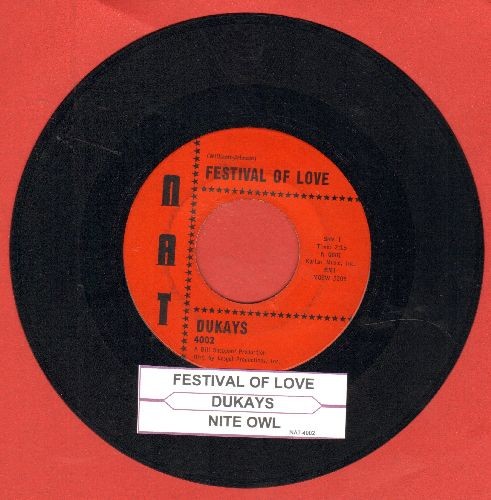 Dukays - Festival Of Love/Nite Owl (with juke box label) - EX8/ - 45 rpm Records