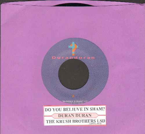 Duran Duran - Do You Believe In Shame/The Krush Brothers LSD (with juke box label) - NM9/ - 45 rpm Records