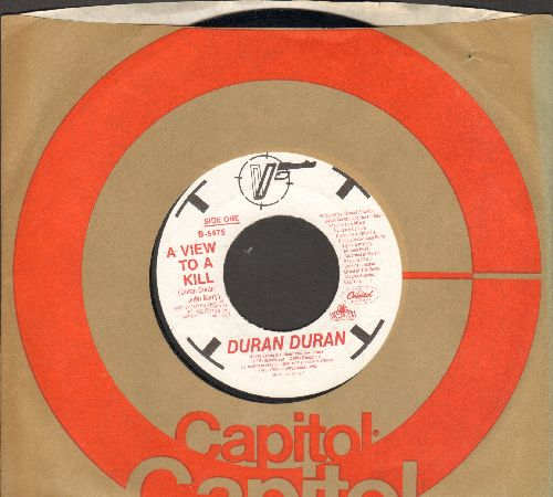 Duran Duran - A View To A Kill (James Bond Theme from film of same title)(with Capitol company sleeve) - EX8/ - 45 rpm Records