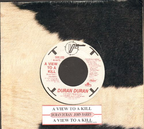 Duran Duran - A View To A Kill (James Bond Theme from film of same title)(with juke box label and Capitol copany sleeve) - EX8/ - 45 rpm Records