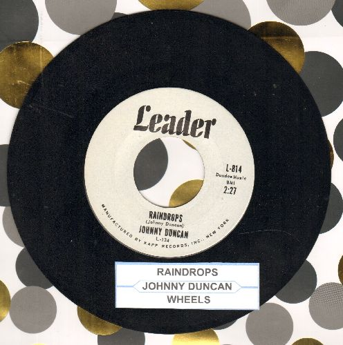 Duncan, Johnny - Raindrops/Wheels (vocal version) (with juke box label) - NM9/ - 45 rpm Records