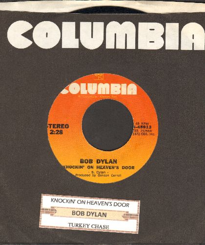 Dylan, Bob - Knockin' On Heaven's Door/Turkey Chase (with Columbia company sleeve with juke box label) - EX8/ - 45 rpm Records