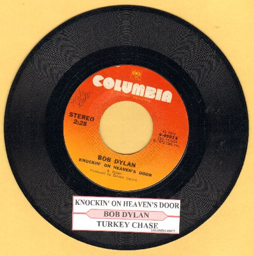 Dylan, Bob - Knockin' On Heaven's Door/Turkey Chase (with juke box label) - EX8/ - 45 rpm Records