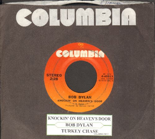 Dylan, Bob - Knockin' On Heaven's Door/Turkey Chase (with juke box label and Columbia company sleeve) - VG7/ - 45 rpm Records