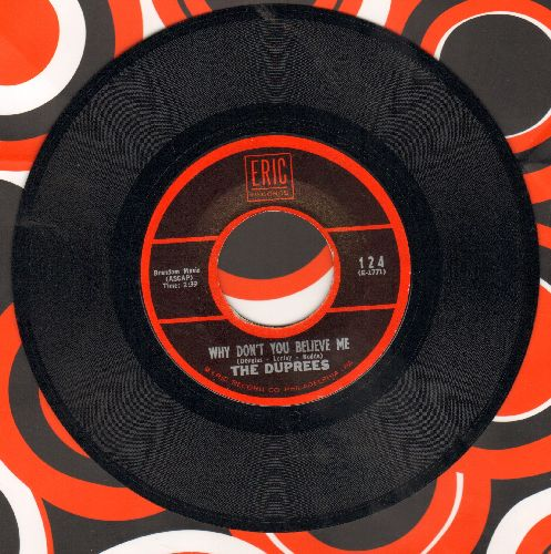 Duprees - Why Don't You Believe Me/Exodus (double-hit re-issue) - NM9/ - 45 rpm Records