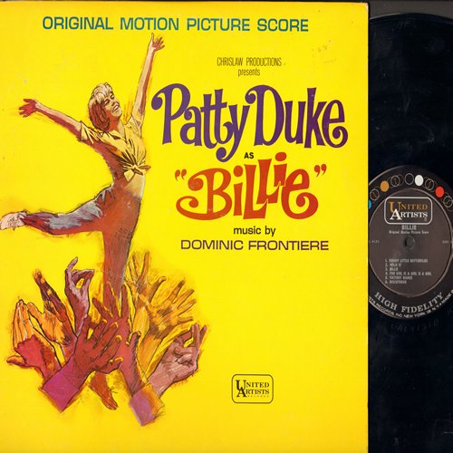 Duke, Patty - Billie - Original Motion Picture Sound Track,( Mono)includes Patty Duke's songs Funny Little Butterflies and Lonely Little In Between (Vinyl MONO LP record) - EX8/VG7 - LP Records