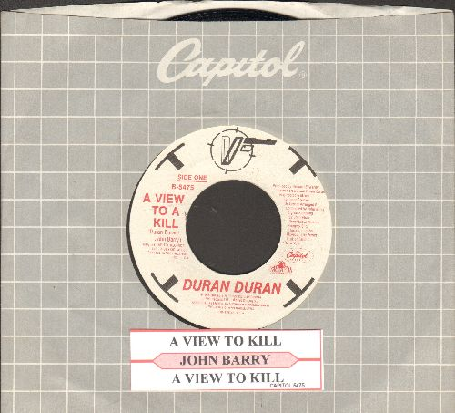 Duran Duran - A View To A Kill (James Bond Theme from film of same title)(with juke box label and Capitol copany sleeve) - VG7/ - 45 rpm Records