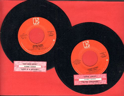 Dupree, Robbie - 2 first issue 45s with juke box labels for the price of 1: Hot Rod Hearts/Steal Away (shipped in plain white paper sleeves) - EX8/ - 45 rpm Records