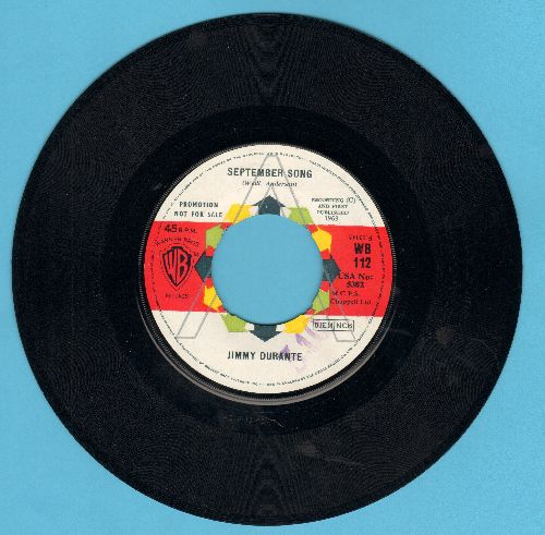 Durante, Jimmy - September Song/Young At Heart (British Promo Pressing) - NM9/ - 45 rpm Records