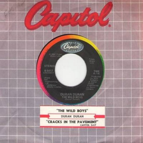 Duran Duran - The Wild Boys/Cracks In The Pavement (with Capitol company sleeve and juke box label) - NM9/ - 45 rpm Records