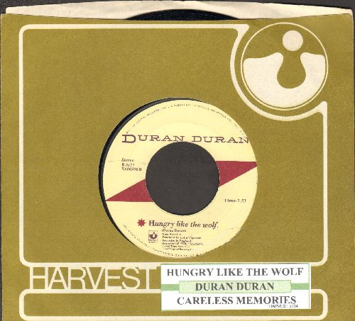 Duran Duran - Careless memories (Live Version)/Hungry Like A Wolf (with juke box label and Harvest company sleeve) - NM9/ - 45 rpm Records