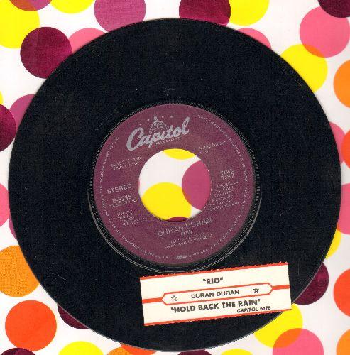 Duran Duran - Rio/Hold Back The Rain (with juke box label) - NM9/ - 45 rpm Records