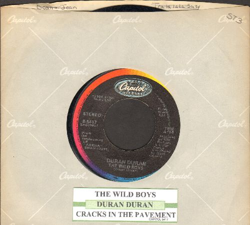 Duran Duran - The Wild Boys/Cracks In The Pavement (with juke box label and Capitol company sleeve) - VG7/ - 45 rpm Records