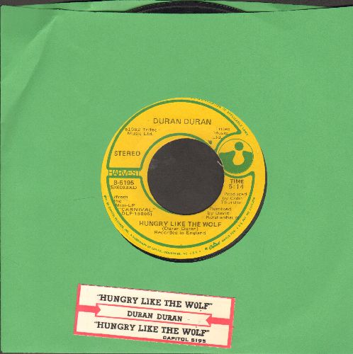 Duran Duran - Hungry Like The Wolf (LONG and SHORT version of hit, with juke box label) - EX8/ - 45 rpm Records
