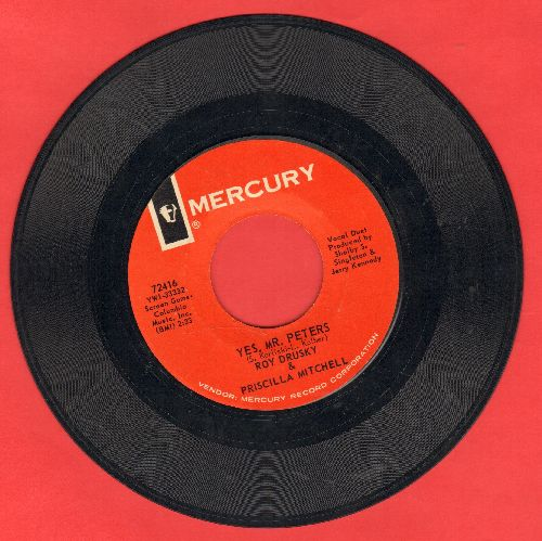 Drusky, Roy & Pricilla Mitchell - Yes, Mr. Peters/More Than We Desire - NM9/ - 45 rpm Records