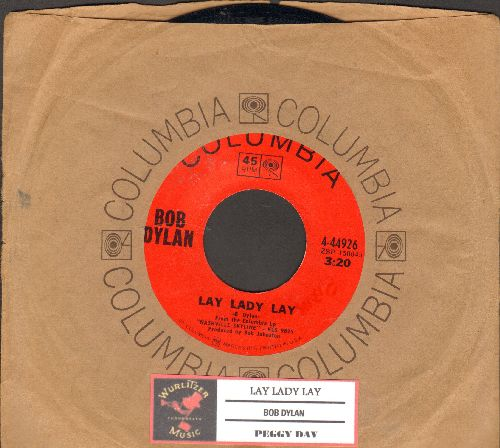 Dylan, Bob - Lay Lady Lay/Peggy Day (with juke box label and Columbia company sleeve) - NM9/ - 45 rpm Records