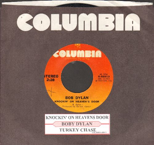 Dylan, Bob - Knockin' On Heaven's Door/Turkey Chase (with juke box label and Columbia company sleeve) - EX8/ - 45 rpm Records