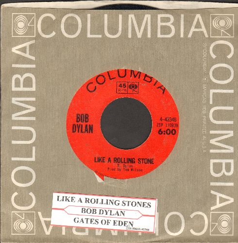 Dylan, Bob - Like A Rolling Stone/Gates Of Eden (with Columbia company sleeve and juke box label) - EX8/ - 45 rpm Records