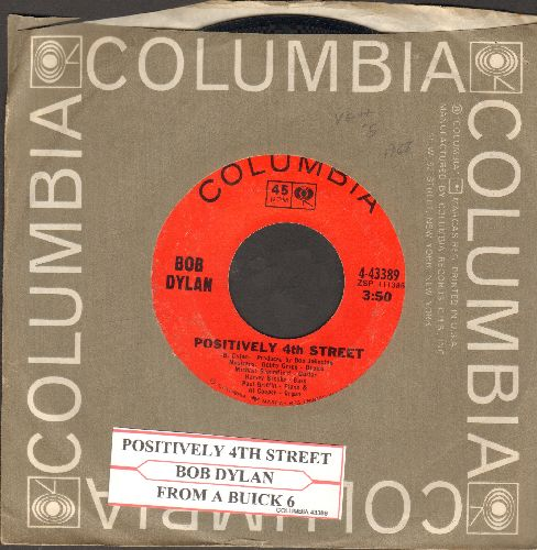 Dylan, Bob - Positively 4th Street/From A Buick 6 (with Columbia company sleeve and juke box label) - EX8/ - 45 rpm Records