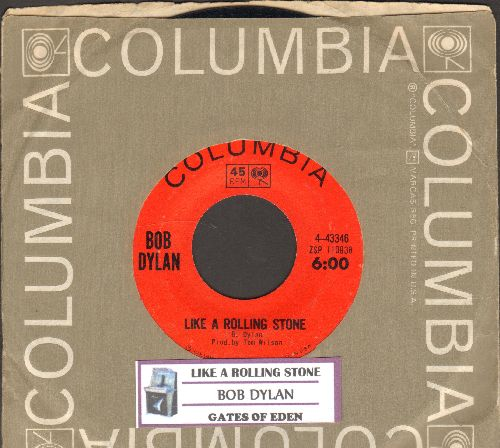 Dylan, Bob - Like A Rolling Stone/Gates Of Eden (with juke box label and Columbia company sleeve) - EX8/ - 45 rpm Records