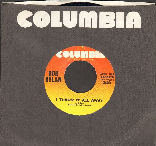 Dylan, Bob - I Threw It All Away/Lay Lady Lay (authentic-looking re-issue with Columbia company sleeve) - NM9/ - 45 rpm Records