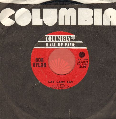 Dylan, Bob - Lay Lady Lay/I Threw It All Away (doule-hit re-issue with Columbia company sleeve) - VG7/ - 45 rpm Records