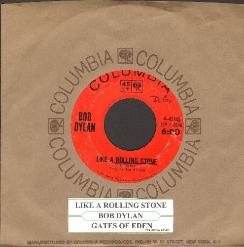 Dylan, Bob - Like A Rolling Stone/Gates Of Eden (with juke box label and Columbia  - VG7/ - 45 rpm Records