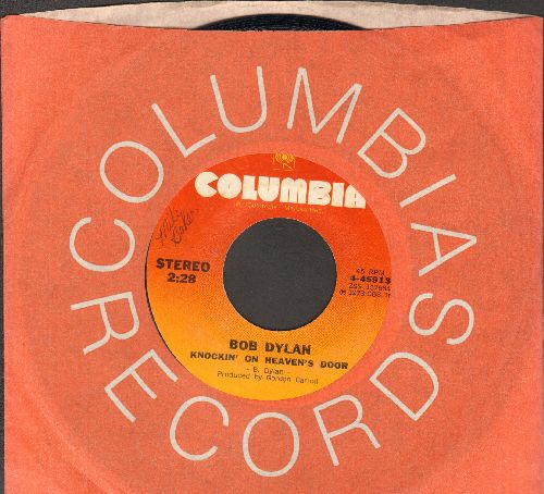 Dylan, Bob - Knockin' On Heaven's Door/Turkey Chase (with Columbia company sleeve) - EX8/ - 45 rpm Records