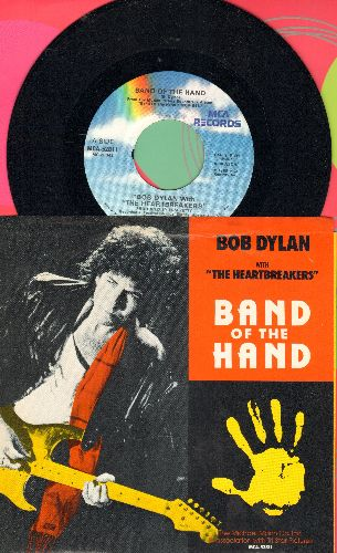 Dylan, Bob - Band Of The Hand/Theme From Joe's Death (with picture sleeve) - NM9/EX8 - 45 rpm Records