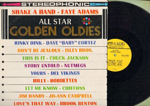 Adams, Faye, Nutmegs, Bobbettes, Jo-Ann Campbell, others - All Star Golden Oldies: Shake A Hand, Story Untold, Billy, Yours, Jim Damdy, Let Me Know (vinyl STEREO LP record) - NM9/EX8 - LP Records
