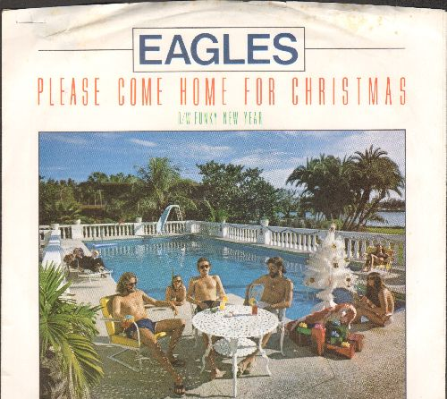 Eagles - Please Come Home For Christmas/Funky New Year (with picture sleeve) - EX8/VG7 - 45 rpm Records