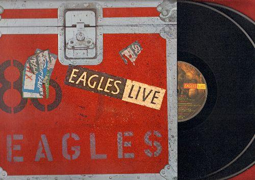 Eagles - Eagles LIVE: Hotel California, Heartache Tonight, New Kid In Town, Desperado, Take It Easy (2 vinyl STEREO LP records in gate-fold cover) - NM9/EX8 - LP Records