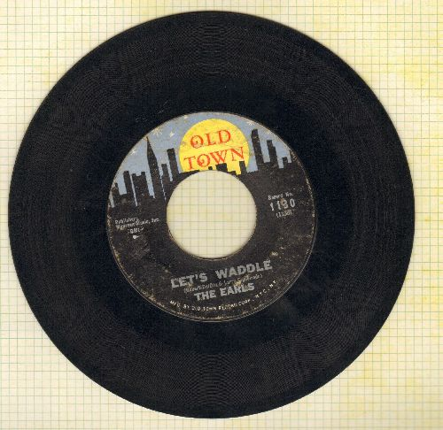 Earls - Let's Waddle (FANTASTIC Vintage Dance-Craze Novelty!)/Remember Then (yellow moon) - VG6/ - 45 rpm Records