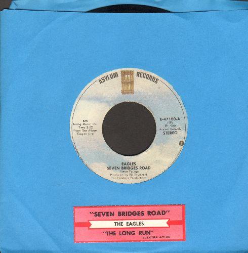 Eagles - Seven Bridges Road/The Long Run (with juke box label) - NM9/ - 45 rpm Records
