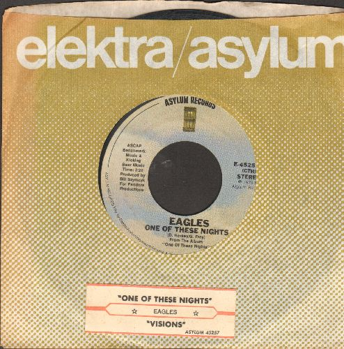 Eagles - One Of These Nights/Visisons (with juke box label and company sleeve) - EX8/ - 45 rpm Records