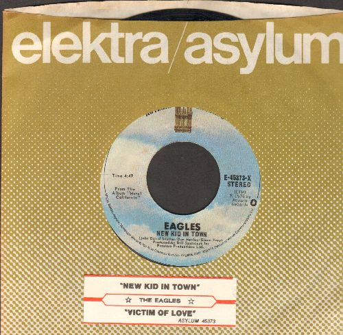 Eagles - New Kid In Town/Victim Of Love (with juke box label and company sleeve) - EX8/ - 45 rpm Records