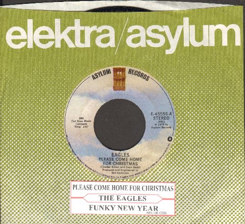 Please Come Home For Christmas Eagles.Eagles Please Come Home For Christmas Funky New Year With Company Sleeve And Juke Box Label Nm9 45 Rpm Records