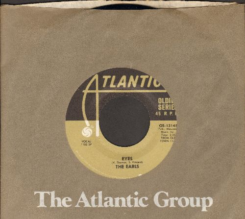 Earls - Eyes/Dear One (by Larry Finnigan on flip-side) (double-hit re-issue with Atlantic company sleeve) - NM9/ - 45 rpm Records
