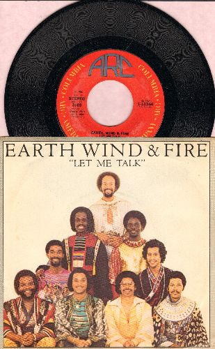 Earth, Wind & Fire - Let Me Talk/Let Me Talk (Instrumental) (with picture sleeve) - NM9/NM9 - 45 rpm Records