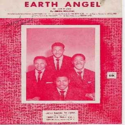 Penguins - Earth Angel - Orignal SHEET MUSIC to the Legendary Doo-Wop Hit made popular by The Penguins (minor wol) - EX8/ - Sheet Music