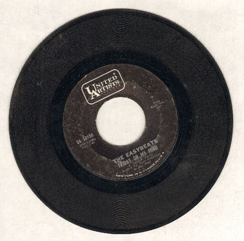 Easybeats - Friday On My Mind/Made My Bed: Gonna Lie In It (with United Artists company sleeve) - VG7/ - 45 rpm Records