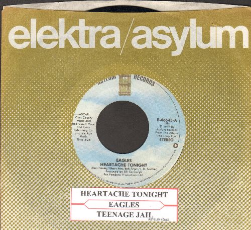 Eagles - Heartache Tonight/Teenage Jail (with juke box label and Elektra company sleeve) - EX8/ - 45 rpm Records
