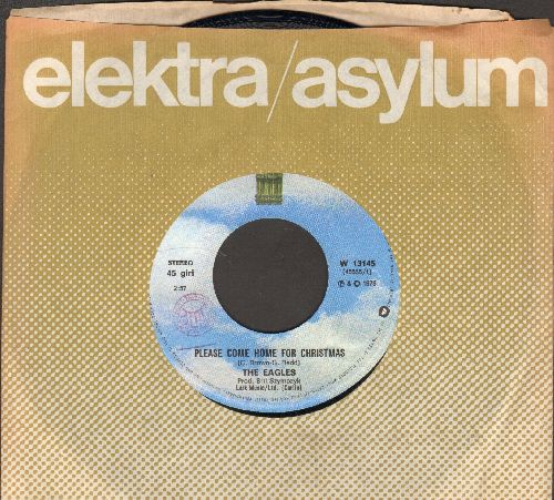 Eagles - Please Come Home For Christmas/Funky New Year (Italian Pressing with company sleeve) - EX8/ - 45 rpm Records